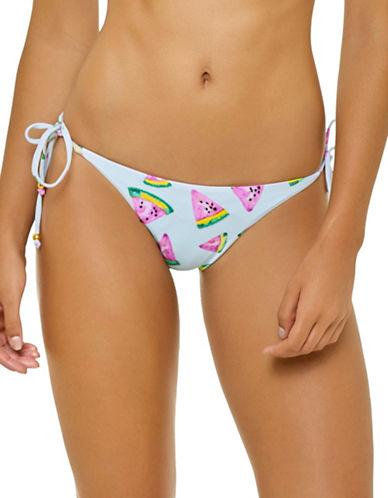 Pily Q Fresca Side Tie Bikini Bottom-BLUE-Small D