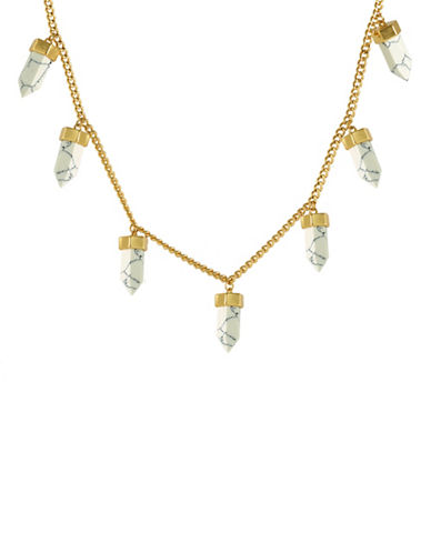 Cc Skye Howlite Bullet Necklace-GOLD-One Size
