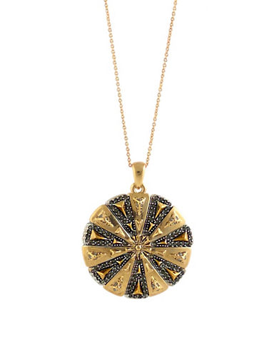 House Of Harlow 1960 Ornamental Medallion Necklace-GOLD-One Size