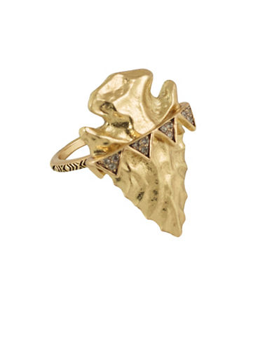 House Of Harlow 1960 Mojave Goldtone Arrowhead Cocktail Ring-GOLD-8