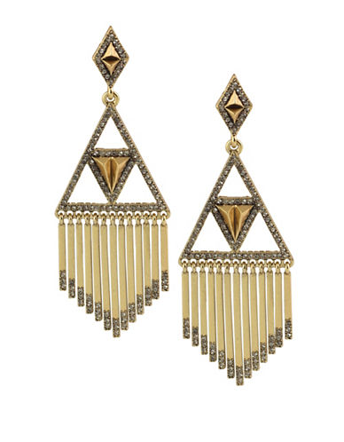 House Of Harlow 1960 Golden Hour 14K Goldplated Fringe Earrings-GOLD-One Size