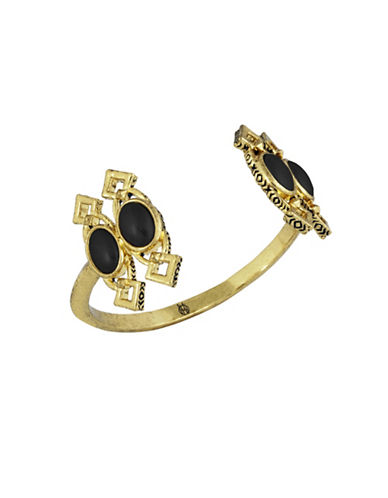 House Of Harlow 1960 Lady Of Grace Cuff Bracelet-BLACK-One Size