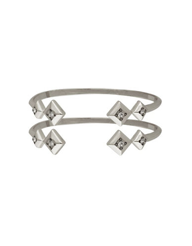 House Of Harlow 1960 The Lyra Silvertone Cuff Bracelet Set-SILVER-One Size