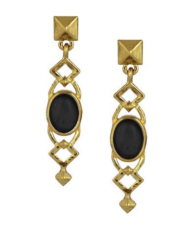 House Of Harlow 1960 Lady Of Grace Drop Earrings-BLACK-One Size