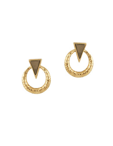 House Of Harlow 1960 Hymn To Selene Door Knocker Earrings-NATURAL-One Size