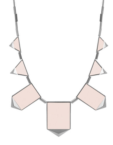 House Of Harlow 1960 Classic Station Pyramid Necklace-PINK-One Size