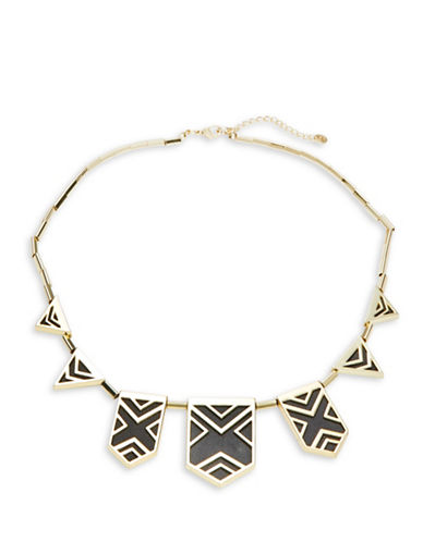 House Of Harlow 1960 Cage Statement Necklace-BLACK-One Size