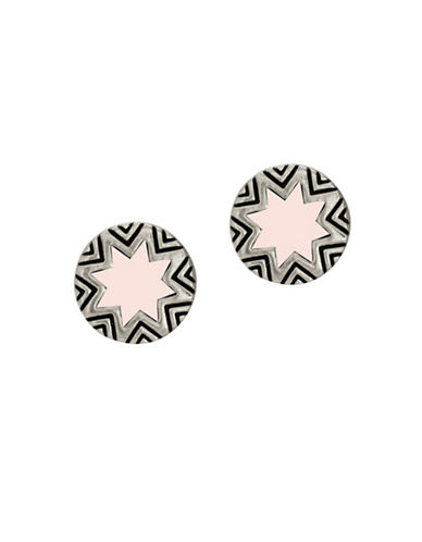 House Of Harlow 1960 Engraved Sunburst Stud Earrings-PINK-One Size