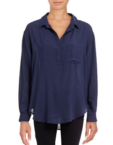 Rails Striped Woven Shirt-BLUE-Small