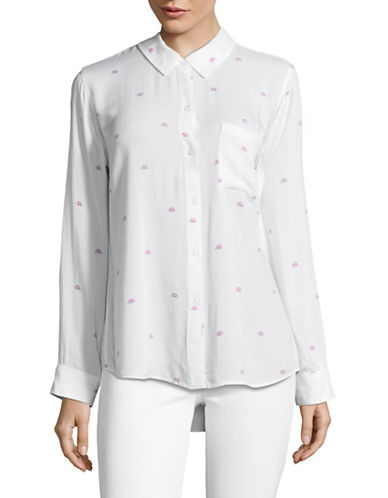Rails Rocsi Hibiscus Print Shirt-WHITE-Small