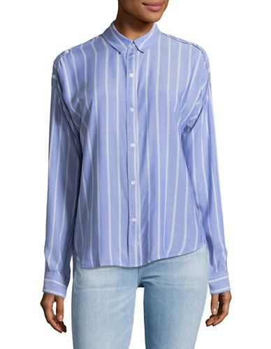 Rails Josephine Stripe Blouse-BLUE-Medium