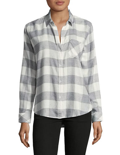Rails Milo Check Button-Down Shirt-GREYMULTI-Large