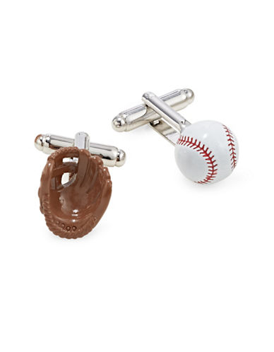 Cufflinks Inc. 3D Baseball and Glove Cufflinks-MULTI-One Size