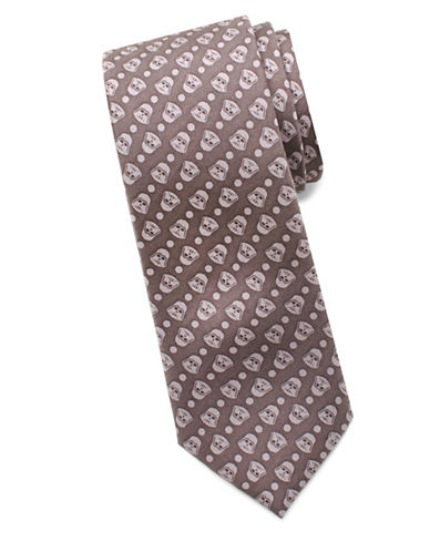 Cufflinks Inc. Star Wars Darth Vader Silk Tie-GREY-One Size