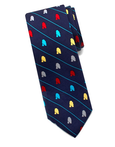 Cufflinks Inc. Star Wars R2D2 Droid Silk Tie-BLUE-One Size
