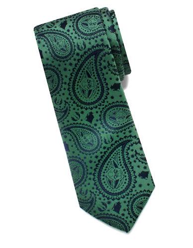 Cufflinks Inc. Star Wars Yoda Paisley Silk Tie-GREEN-One Size 89205921_GREEN_One Size