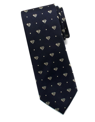Cufflinks Inc. DC Comics Superman Dot Neck Silk Tie-BLUE-One Size 89205909_BLUE_One Size