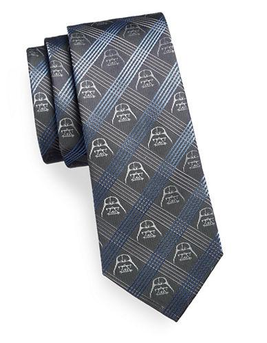Cufflinks Inc. Darth Vader Plaid Silk Tie-BLUE/GREY-One Size 88738361_BLUE/GREY_One Size