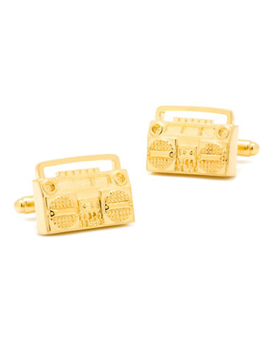 Cufflinks Inc. Gold Retro Boombox Cufflinks-GOLD-One Size
