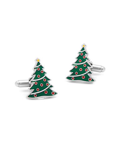 Cufflinks Inc. Christmas Tree Cuff Links-SILVER-One Size