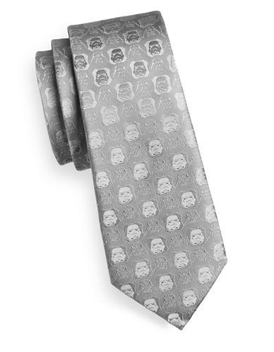 Cufflinks Inc. Darth Vader & Stormtrooper Silk Tie-GREY-One Size 89566136_GREY_One Size