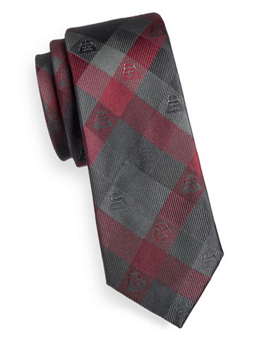 Cufflinks Inc. Darth Vader Plaid Silk Tie-RED/GREY-One Size
