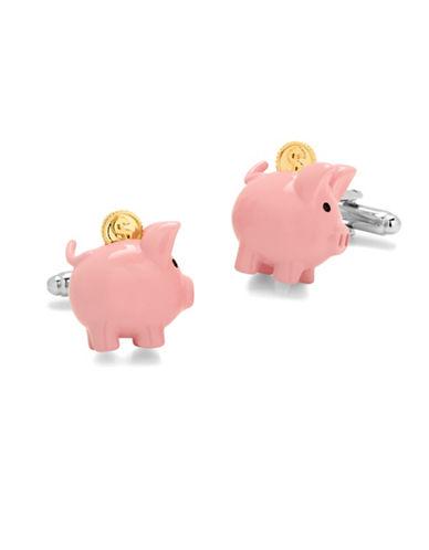 Cufflinks Inc. 3D Piggy Bank Cufflinks-PINK-One Size