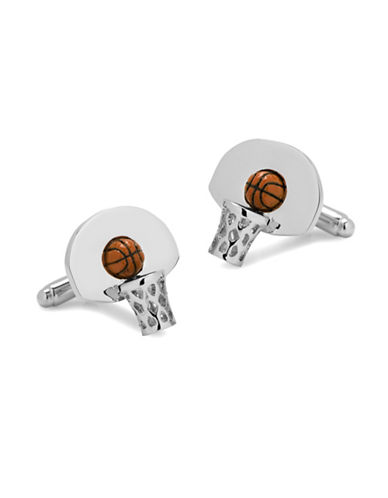 Cufflinks Inc. 3D Basketball Hoop Cufflinks-SILVER-One Size