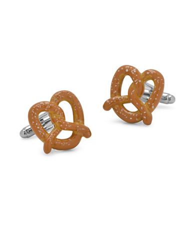 Cufflinks Inc. 3D Pretzel Cufflinks-BROWN-One Size