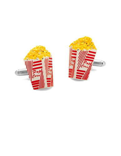 Cufflinks Inc. 3D Popcorn Cufflinks-YELLOW-One Size