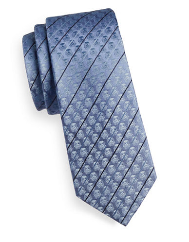 Cufflinks Inc. Stormtrooper Striped Silk Tie-BLUE-One Size