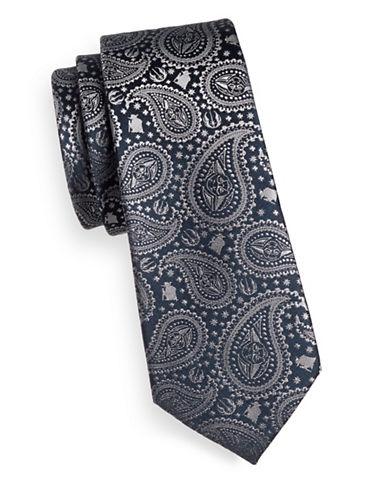 Cufflinks Inc. Yoda Paisley Silk Tie-GREY-One Size