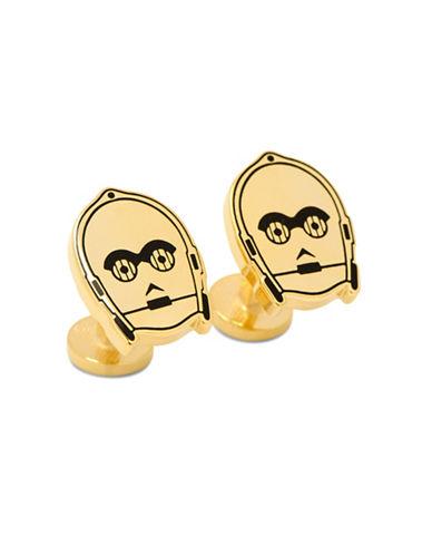 Cufflinks Inc. Glow C3PO Cuff Links-GOLD-One Size