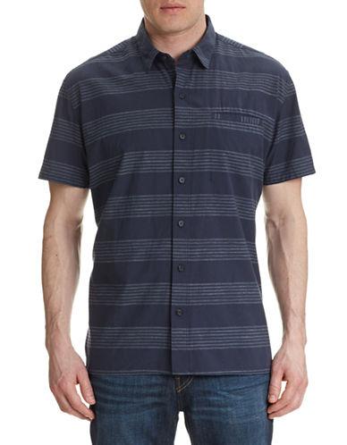 Wrk Luca Striped Shirt-NAVY-Small