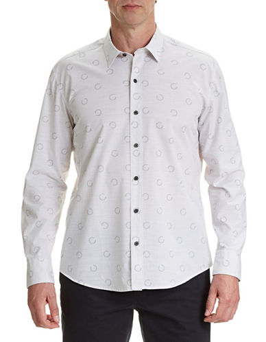 Wrk Harvey Printed Sport Shirt-WHITE-X-Large