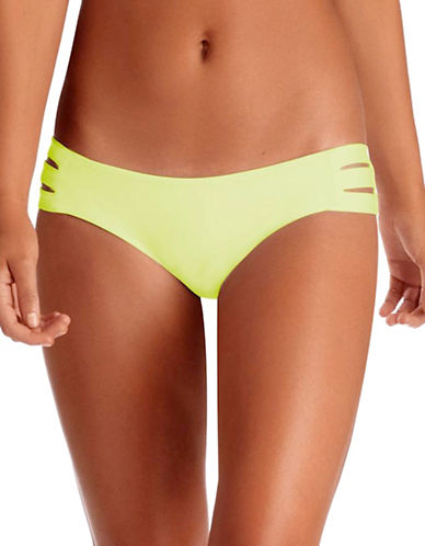 Vitamin A Emelia Triple Strap Swim Bottoms-YELLOW-8
