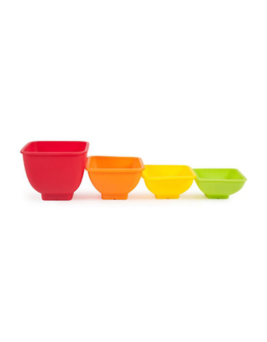 Core Home Four-Piece Juneau Square Pinch Bowl-RED-One Size