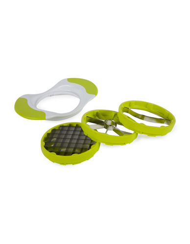 Core Home Four-Piece Stainless Steel Corer and Slicer Set-LIME-One Size
