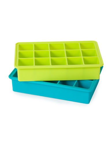 Core Home Two-Piece Rectangular Ice Cube Tray Set-ASSORTED-One Size