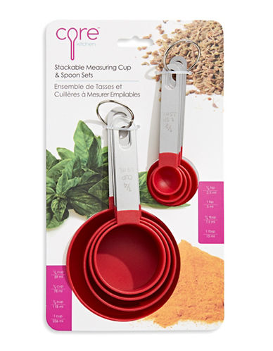 Core Home Eight-Piece Everyday Measuring Cup Set-STRAWBERRY-One Size