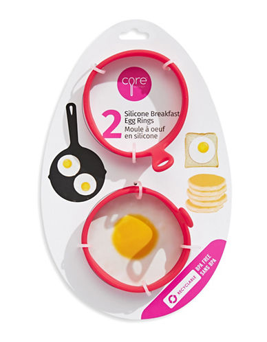 Core Home Two-Piece Egg Rings Set-STRAWBERRY-One Size