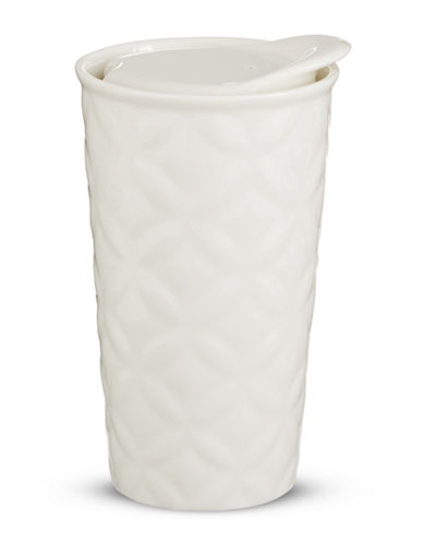Core Home 11oz Textured Ceramic Mug-WHITE-One Size