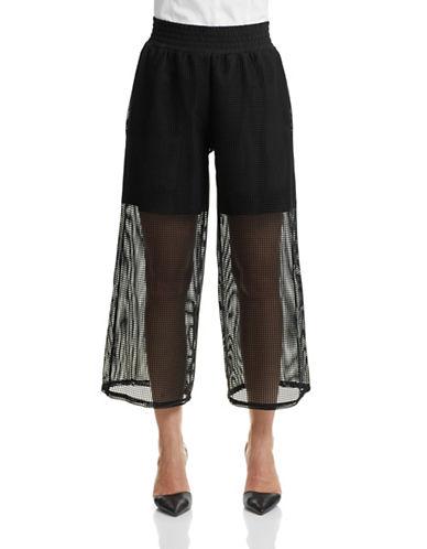 Clover Canyon Square Mesh Gaucho Pants-BLACK-X-Small 87430305_BLACK_X-Small