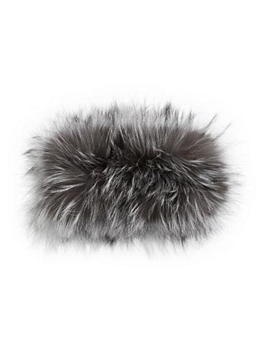 Image of Adrienne Landau Fox Fur Headband-SILVER-One Size