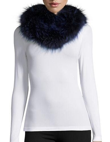 Adrienne Landau Fox Fur Infinity Loop Scarf-INDIGO-One Size
