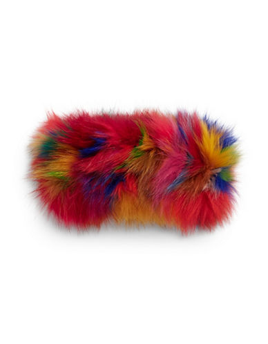 Adrienne Landau Fox Fur Headband-MULTI-One Size