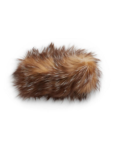 Adrienne Landau Fox Fur Headband-LIGHT BROWN-One Size