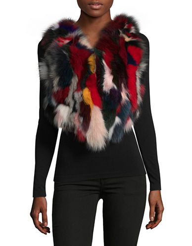 Adrienne Landau Adlan Fox Fur Vest-MULTI-Small