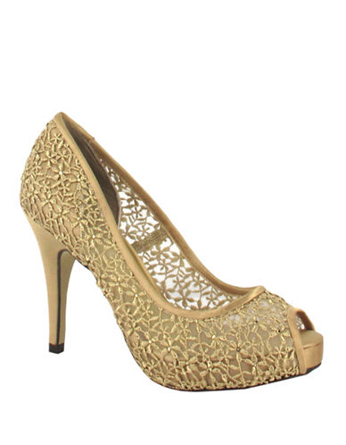 Menbur Macedonia Platform Pumps-GOLD-11