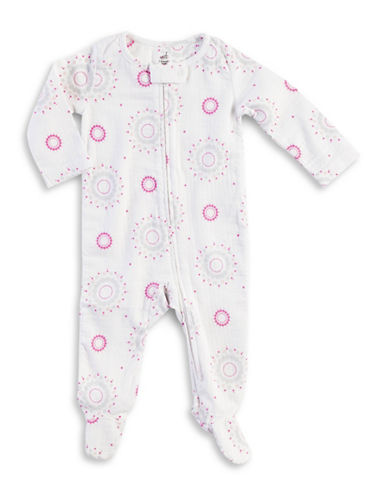 Aden By Aden And Anais Darling Glow Footie-PINK-0-3 Months